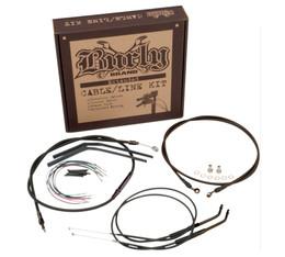 "Burly Control Cable Kit Black 12"" Bars (B30-1121)"