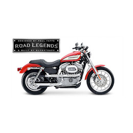 Supertrapp Road Legend X-Pipe Exhaust for HD SPORTSTER 04-06 Silver 3SHLD