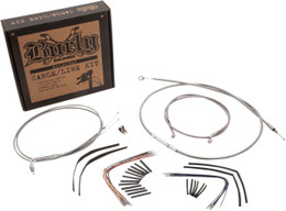 """Burly Control Cable Kit Stainless 14"""" Bars (B30-1061)"""