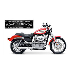 Supertrapp Road Legend X-Pipe Exhaust for HD SPORTSTER 04-13 Silver