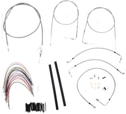 """Burly Control Cable Kit Stainless 18"""" Bars (B30-1090)"""
