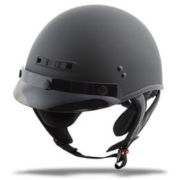 Gmax GM-35 Full Dress Solid Half Helmet Matte Black