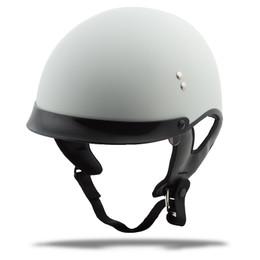 Gmax GM-65 Full Dress Solid Half Helmet Matte White