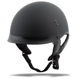 Gmax GM-65 Full Dress Solid Half Helmet Matte Black