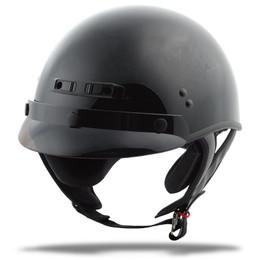 Gmax GM-35 Full Dress Solid Half Helmet Black