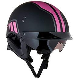 Gmax GM-65 Full Dress Twin Half Helmet Matte Pink
