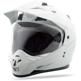 Gmax GM-11 Dual Sport Solid Helmet White