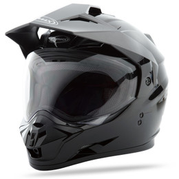 Gmax GM-11 Dual Sport Solid Helmet Black