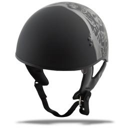 Gmax GM-65 Naked Tormentor Half Helmet Matte Silver