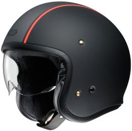 Shoei JO Carburetor TC-8 Black Red Helmet