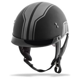 Gmax GM-65 Full Dress Twin Half Helmet Matte Silver