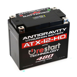 Antigravity Re-Start Lithium Battery ATX-12-HD 480CA 4 Terminal