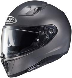 HJC i70 Solid Matte Silver Helmet