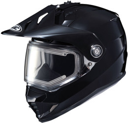HJC DS-X1 Snow (Electric Shield) Solid Matte Black Helmet