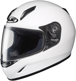 HJC CL-Y Solid Gloss White Helmet