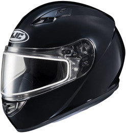 HJC CS-R3 Snow (Dual Lens) Solid Gloss Black Helmet