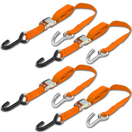 Progrip Powersports Motorcycle Tie Down Straps Lab Tested (4 Pack)