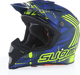 Suomy MX Speed Sergant Matte Blue Yellow Helmet