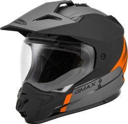 Gmax GM-11 Dual-Sport Scud Helmet Matte Orange