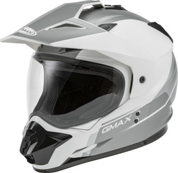 Gmax GM-11 Dual-Sport Scud Helmet White