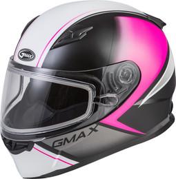 Gmax FF-49S Full-Face Hail Snow Helmet Matte Pink