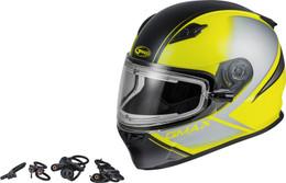 Gmax FF-49S Hail Snow Helmet w/Electric Shield Matte Grey