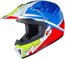 HJC CL-XY 2 Ellusion Blue Red Hi-Viz Youth Helmet