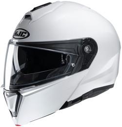 HJC i90 Solid Gloss White Helmet