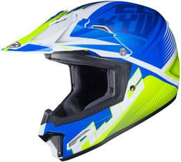 HJC CL-XY 2 Ellusion Blue Hi-Viz Youth Helmet