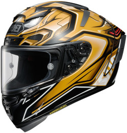 Shoei X-14 AERODYNE TC-9 Gold Helmet