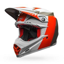 Bell Moto-9 Flex Helmet Division Matte/Gloss White/Orange/Sand