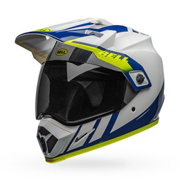 Bell MX-9 Adventure MIPS Helmet Dash Gloss White/Blue/Hi-Viz