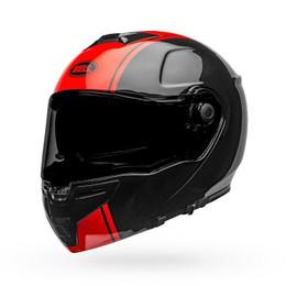 Bell SRT Modular Helmet Ribbon Gloss Black/Red Black