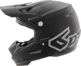 6D-ATR-2 Solid Matte Black Helmet