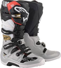 Alpinestars Tech 7 BLACK/SILVER/WHITE/GOLD Boots
