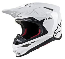 Alpinestars SUPERTech M-8 GLOSSY WHITE Helmet