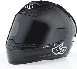 6D ATS-1R Solid Gloss Carbon Black Helmet
