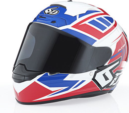 6D ATS-1R Rogue Gloss Red White Blue Helmet