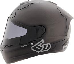 6D ATS-1R Solid Matte Black Helmet