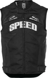 Speed and Strength Men's Insurgent Leather Vest Black