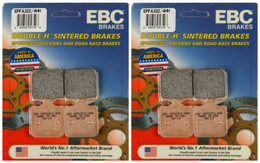 EBC Double-H Sintered Metal Brake Pads EPFA322 4HH (2 Packs Enough for 2 Rotors)
