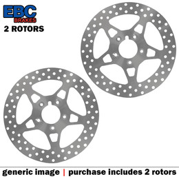 EBC VEE Disc Rotors Front VR614RED (2 Rotors - Bundle)