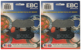 EBC Organic Brake Pads FA215 2 (2 Packs - Enough for 2 Rotors)
