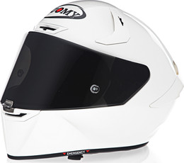 Suomy SR-GP Solid Pearl White Helmet