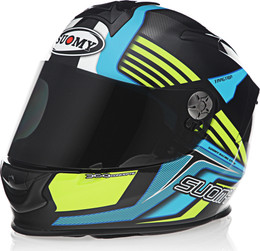 Suomy SR Sport Attraction Blue Yellow Helmet