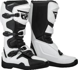 Fly Racing Maverik Boots White Black