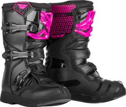 Fly Racing Maverik Boots Youth Pink Black