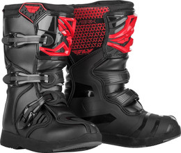 Fly Racing Maverik Boots Youth Red Black