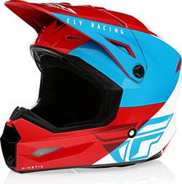 Fly Racing Kinetic Straight Edge Helmet Red White Blue
