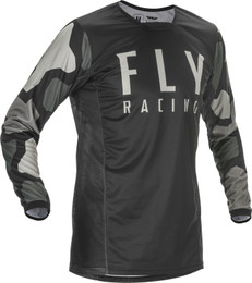 Fly Racing Youth Kinetic K221 Jersey Black Grey